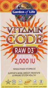 Garden of Life Vitamin Code® RAW D3™ -- 2000 IU - 120 Vegetarian Capsules   Comprar Suplemento em Promoção Site Barato e Bom
