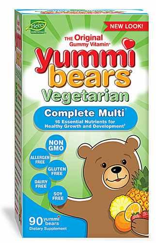 Hero Nutritionals Yummi Bears Multi-Vitamin and Mineral Vegetarian Sour Natural Fruit -- 90 Gummy Bears   Comprar Suplemento em Promoção Site Barato e Bom