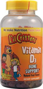 L'il Critters Vitamin D3 Bone Support Natural Fruit -- 190 Gummy Bears   Comprar Suplemento em Promoção Site Barato e Bom