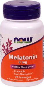 NOW Foods Melatonin -- 3 mg - 90 Lozenges   Comprar Suplemento em Promoção Site Barato e Bom