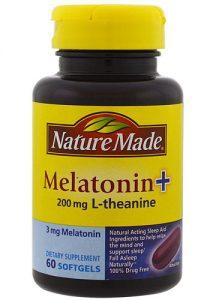 Nature Made Melatonin + 200 mg L-Theanine -- 3 mg - 60 Softgels   Comprar Suplemento em Promoção Site Barato e Bom