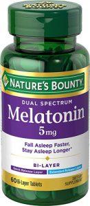 Nature's Bounty Dual Spectrum Melatonin -- 5 mg - 60 Bi-Layer Tablets   Comprar Suplemento em Promoção Site Barato e Bom
