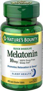 Nature's Bounty Melatonin Cherry -- 10 mg - 45 Quick Dissolving Tablets   Comprar Suplemento em Promoção Site Barato e Bom
