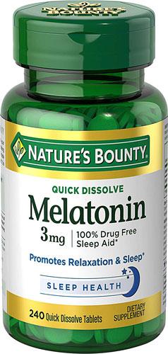 Nature's Bounty Quick Dissolve Melatonin Cherry -- 3 mg - 240 Tablets   Comprar Suplemento em Promoção Site Barato e Bom
