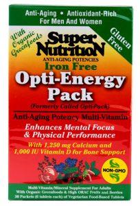 Super Nutrition Opti-Energy Pack Anti-Aging Potency Multi-Vitamin Iron Free -- 30 Packets   Comprar Suplemento em Promoção Site Barato e Bom