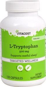 Vitacost L-Tryptophan -- 500 mg - 120 Capsules   Comprar Suplemento em Promoção Site Barato e Bom