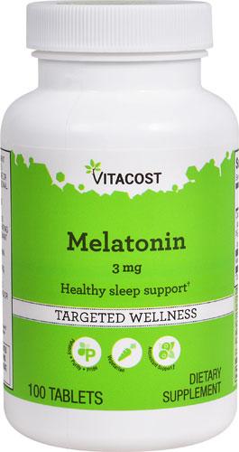 Vitacost Melatonin -- 3 mg - 100 Tablets   Comprar Suplemento em Promoção Site Barato e Bom