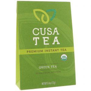 Cusa Tea, Orgânico, Chá Verde, 10 Porções Individuais, 0,04 onças (1,2 g) cada   Comprar Suplemento em Promoção Site Barato e Bom