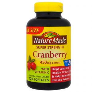 Nature Made, Oxicoco (airela) com Vitamina C, Super Potência, 450 mg, 120 cápsulas gelatinosas   Comprar Suplemento em Promoção Site Barato e Bom