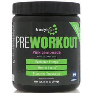 Bodylogix, Pré-Exercícios Energizante, Limonada Rosa, 240 g   Comprar Suplemento em Promoção Site Barato e Bom