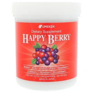 Umeken, Happy Berry, 6,4 onças (180 g), aprox. 400 pedaços   Comprar Suplemento em Promoção Site Barato e Bom