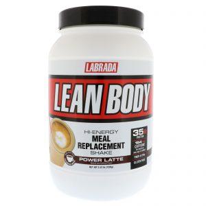 Labrada Nutrition, Lean Body, Hi-Energy Meal Replacement Shake, Power Latte, 2.47 lbs (1120 g)   Comprar Suplemento em Promoção Site Barato e Bom