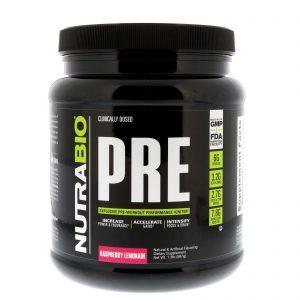 NutraBio Labs, PRE-Workout, Raspberry Lemonade, 1.3 lb (567 g)   Comprar Suplemento em Promoção Site Barato e Bom