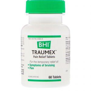 MediNatura, BHI, Traumex, Comprimidos para Alívio da Dor, 60 Comprimidos   Comprar Suplemento em Promoção Site Barato e Bom