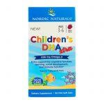 Nordic Naturals, DHA Xtra das crianças, idades de 3 a 6, Ponche de frutas, 636 mg, 90 Mini géis macios   Comprar Suplemento em Promoção Site Barato e Bom