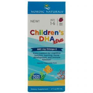 Nordic Naturals, DHA Xtra para Crianças, Ponche de Frutas Vermelhas, 2 fl oz (60 ml)   Comprar Suplemento em Promoção Site Barato e Bom