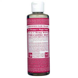 Dr Bronner Rose Pure Castela Soap Rose 8 fl oz   Comprar Suplemento em Promoção Site Barato e Bom