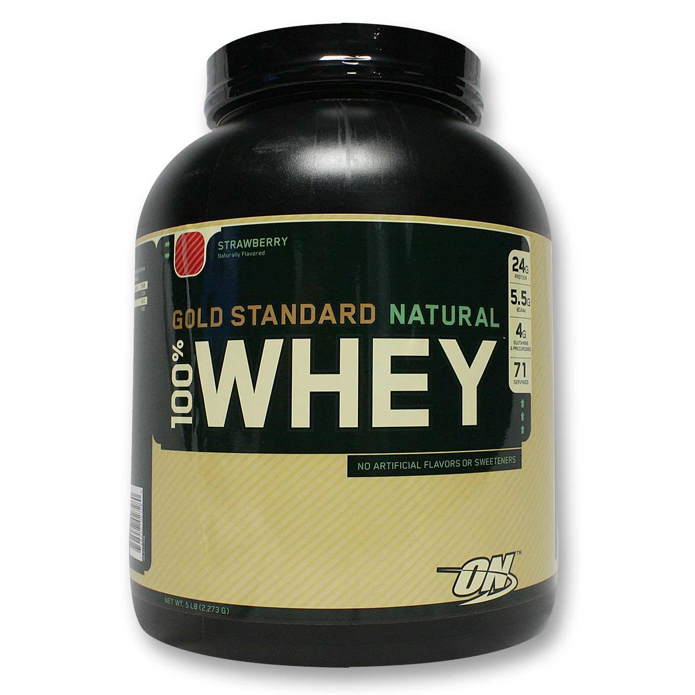 2dbba8ff3 100% Whey Proteína Gold Standard Natural Optimum Nutrition Strawberry 5 lbs   2.341 gr Comprar