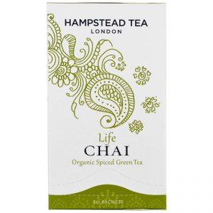 Hampstead Tea, Chá Verde Com Especiarias Orgânico, Chai da Vida, 20 Sachês   Comprar Suplemento em Promoção Site Barato e Bom