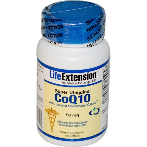 Life Extension, Super Ubiquinol CoQ10 com Suporte Mitocondrial Aumentado, 50 mg, 100 Cápsulas Gelatinosas   Comprar Suplemento em Promoção Site Barato e Bom
