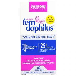 Jarrow Formulas, Fem Dophilus para Mulheres, 60 Cápsulas Vegetais   Comprar Suplemento em Promoção Site Barato e Bom