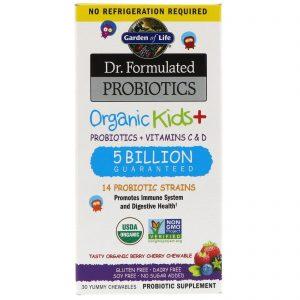 Garden of Life, Dr. Formulated Probiotics Organic Kids+ Shelf Stable, 30 Capsules   Comprar Suplemento em Promoção Site Barato e Bom