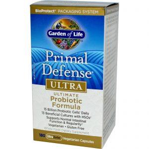 Garden of Life, Primal Defense, Ultra, Fórmula Probiótica Definitiva, 180 Cápsulas Vegetais UltraZorbe   Comprar Suplemento em Promoção Site Barato e Bom