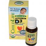 ChildLife, Gotas de Vitamina D3 Orgânica, Sabor Natural de Fruta, 400 UI, 0,338 fl oz (10 ml)   Comprar Suplemento em Promoção Site Barato e Bom