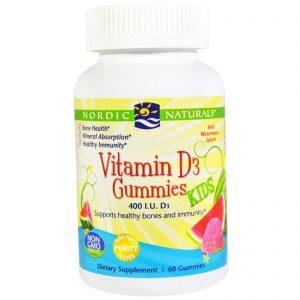Nordic Naturals, Gominhas de Vitamina D3 para Crianças, 400 UI, 60 Gominhas   Comprar Suplemento em Promoção Site Barato e Bom