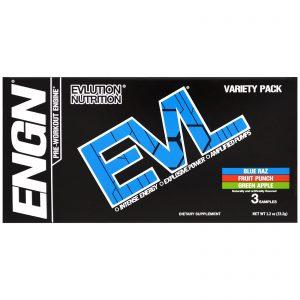 EVLution Nutrition, ENGN Pre-Workout Engine, Variety Pack, 3 Packets, 0.4 oz (11.2 g) Each   Comprar Suplemento em Promoção Site Barato e Bom
