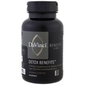 DaVinci Benefits, Benefícios de desintoxicação, 90 comprimidos   Comprar Suplemento em Promoção Site Barato e Bom