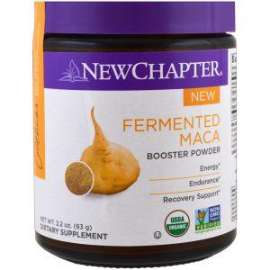 New Chapter, Pó de maca fermentado amplificador, 2,2 oz (63 g)   Comprar Suplemento em Promoção Site Barato e Bom