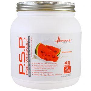 Metabolic Nutrition, Pré-treino P.S.P, Melancia, 360 g   Comprar Suplemento em Promoção Site Barato e Bom