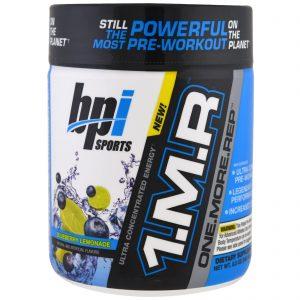 BPI Sports, 1.M.R, One. More. Rep, Pó Pré-treino, Limonada de Mirtilo, 8,5 oz (240 g) (Discontinued Item)   Comprar Suplemento em Promoção Site Barato e Bom