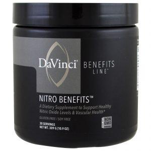 DaVinci Benefits, Nitro Benefits, 10.9 oz (309 g)   Comprar Suplemento em Promoção Site Barato e Bom