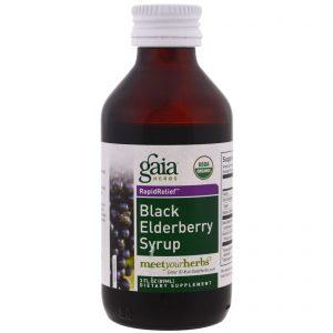 Gaia Herbs, Xarope de Amora Preta, 89 ml   Comprar Suplemento em Promoção Site Barato e Bom