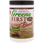 Greens First, Boost, Chocolate Holandês, 10.5 oz (300 g)   Comprar Suplemento em Promoção Site Barato e Bom