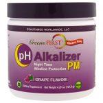 Greens First, pH Alkalizer PM, Uva, 4.29 oz (121.8 g)   Comprar Suplemento em Promoção Site Barato e Bom