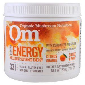 Organic Mushroom Nutrition, Energy, Pó de Cogumelos, Laranja Cítrica, 7,14 oz (200 g)   Comprar Suplemento em Promoção Site Barato e Bom