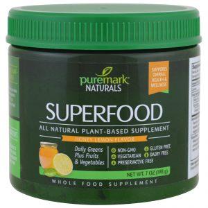 PureMark Naturals, Superalimento, sabor mel com limão, 7 oz (198 g)   Comprar Suplemento em Promoção Site Barato e Bom