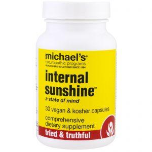 Michael's Naturopathic, Suplemento Internal Sunshine, 30 Cápsulas Veganas   Comprar Suplemento em Promoção Site Barato e Bom
