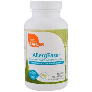 Zahler, AllergEase, Fórmula de Apoio ao Sistema Imune, 90 Cápsulas Vegetais   Comprar Suplemento em Promoção Site Barato e Bom