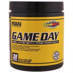 MAN Sports, Game Day, Pré-Treino de Alta Intensidade, Lote Cítrico, 8,99 oz (255 g)   Comprar Suplemento em Promoção Site Barato e Bom