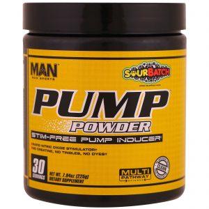 MAN Sports, Pump Powder, Indutor de Bomba Não Estimulante, Lote Cítrico, 7,94 oz (225 g)   Comprar Suplemento em Promoção Site Barato e Bom
