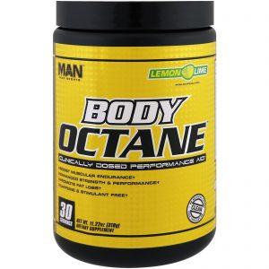 MAN Sports, Octano Corporal, Lima Limão, 11,22 oz (318 g)   Comprar Suplemento em Promoção Site Barato e Bom