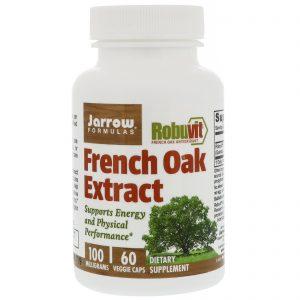 Jarrow Formulas, Extrato de carvalho francês, 100 mg, 60 cápsulas vegetarianas   Comprar Suplemento em Promoção Site Barato e Bom