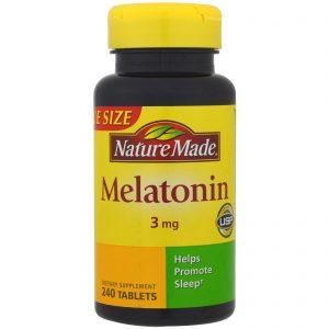 Nature Made, Melatonina, 3 mg, 240 Comprimidos   Comprar Suplemento em Promoção Site Barato e Bom