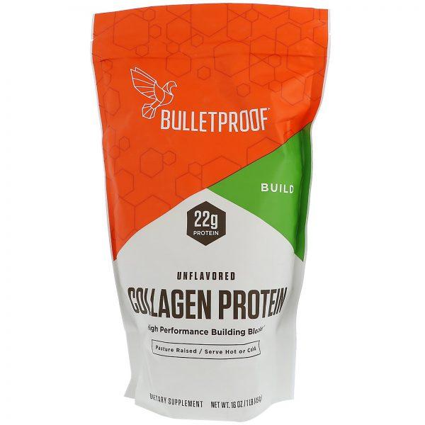 BulletProof, Proteína de colágeno, sem sabor, 16 onças (454 g)   Comprar Suplemento em Promoção Site Barato e Bom