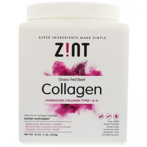 Z!NT, Grass-Fed Beef Collagen, Hydrolyzed Collagen Types 1 & III, 16 oz (454 g)   Comprar Suplemento em Promoção Site Barato e Bom