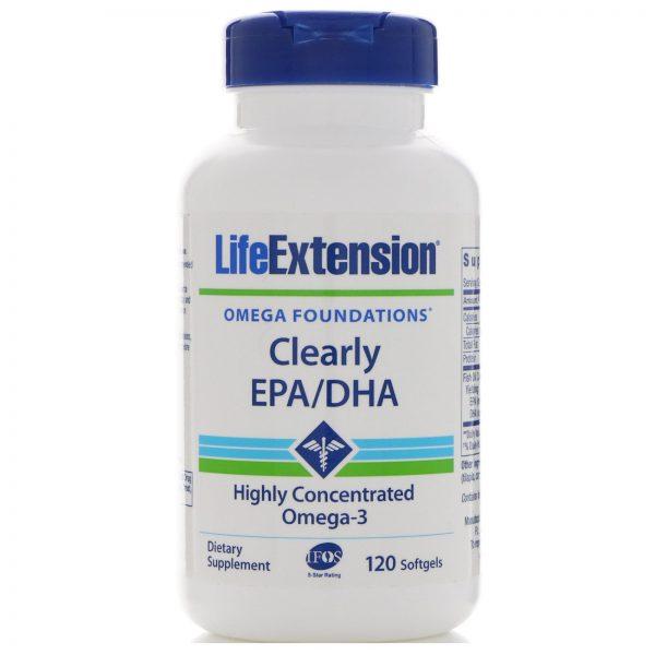 Life Extension, Clearly EPA/DHA, 120 Cápsulas Gelatinosas   Comprar Suplemento em Promoção Site Barato e Bom